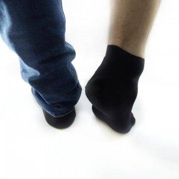 """Подарочный бокс мужских укороченных носков """"Черный спорт"""" 15 пар"""