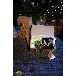 Новогодний подарочный набор с кружкой Черный Олень ПК-НГ-3 1 пара