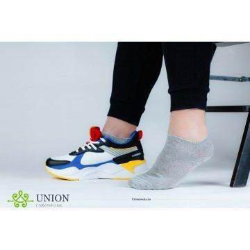 """Носки мужские укороченные 10 пар за """"Светло-серый спорт"""""""