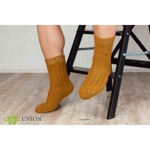 Шерстяные носки горчичного цвета