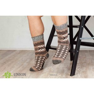 Шерстяные носки Коричневый узор