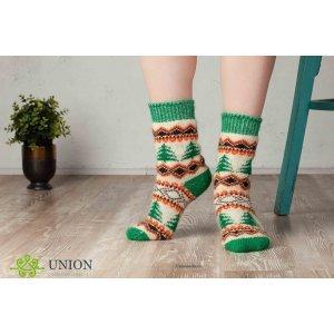 Новогодние шерстяные носки