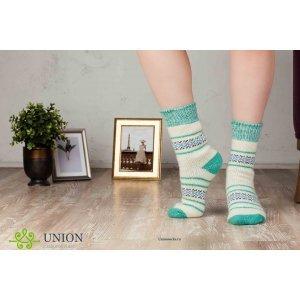 Шерстяные носки мятные