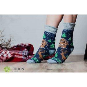 Шерсятные носки с елочкой