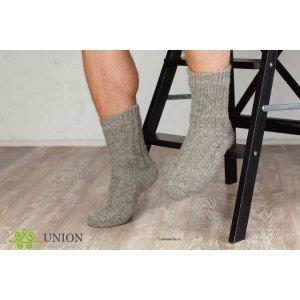 Шерстяные носки светло-серого цвета