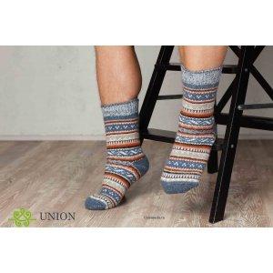 Шерстяные носки Синий Узор