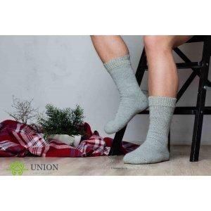 Шерстяные мужские носки серого цвета