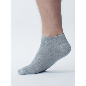 "Короткие серы носки мужские акция 100 пар за 2799 ""Светло-серый"""